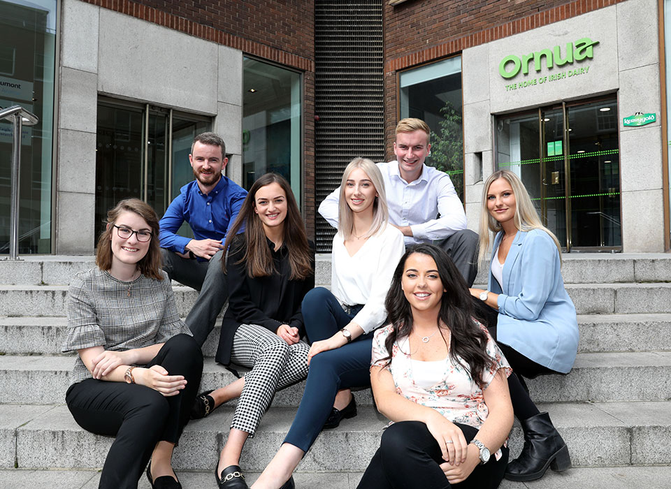 Ornua, successful graduates on the graduate placement programme